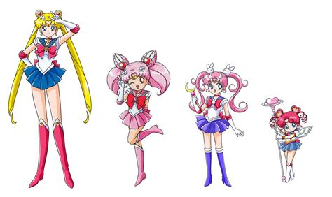 sailor moon chibimoon parallel moon and chibichi by moon shadow 1985 on deviantart