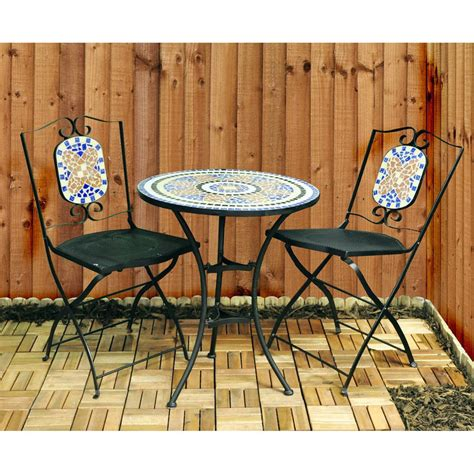 mosaic bistro table and chairs garden furniture set by