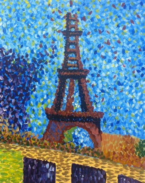 seurats eiffel tower inspired  georges seurat paint