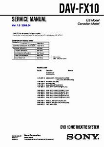 Sony Dav-fx10  Hcd-fx10 Service Manual
