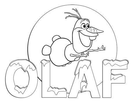 Frozen Coloring Pages For Kids To Print Out