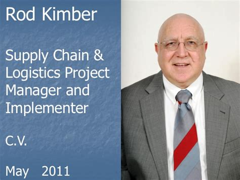 Melbourne Resumes Bonnie by Rod Kimber Supply Chain And Logistics Project Manager And