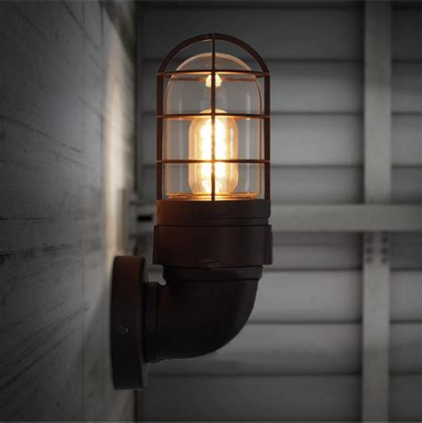 industrial wrought iron wall ls retro wall light rustic