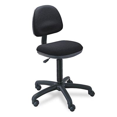 precision desk height swivel chair black fabric safco