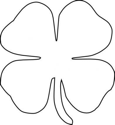 clover template vector four leaf clover vector clip ai svg eps vector free