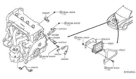 93 Altima Engine Diagram by 24346 4l760 Genuine Nissan 243464l760 Clip Connector