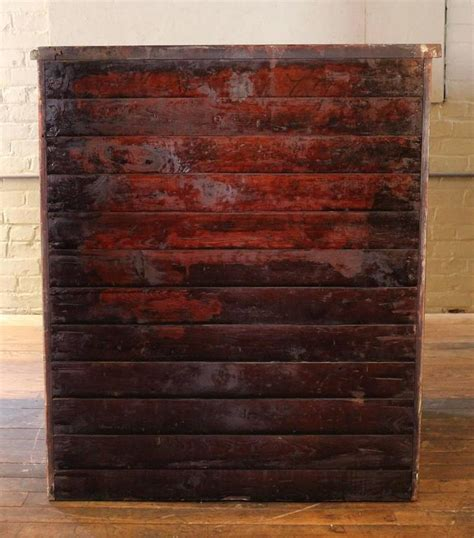 Vintage Industrial Hamilton Wood Flat File Multi Drawer