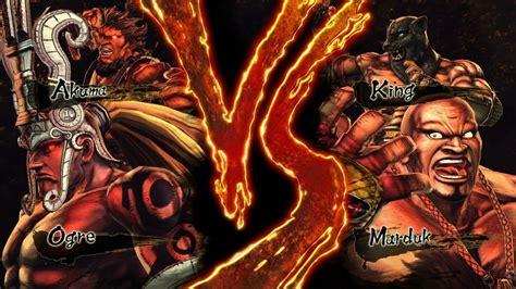 Street Fighter X Tekken Akuma And Ogre Vs King And Marduk Hd
