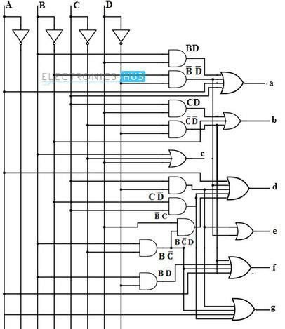 4 To 16 Decoder Logic Diagram by Bcd To 7 Segment Led Display Decoder Circuit Stem