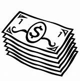 Money Coloring Pages Dollar Bills Printable Paper sketch template