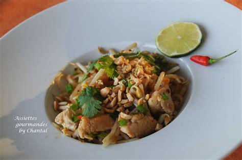 poulet cuisine recette de pad thaï nouilles de riz sautées au poulet