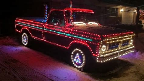 christmas lights  ford pickup truck youtube