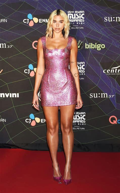 Dua Lipa Channels Donatella Versace In Barbie Pink Dress ...