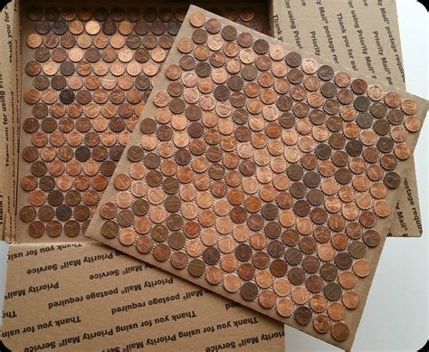kitchen floor made out of pennies tile sheets made with real pennies the real tile 9373