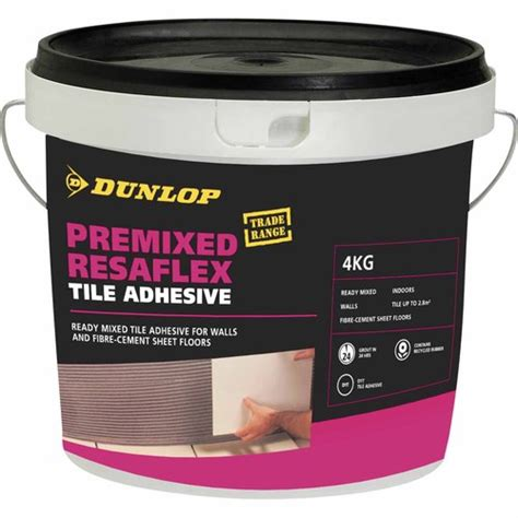 dunlop premixed resaflex tile adhesive grout adhesives