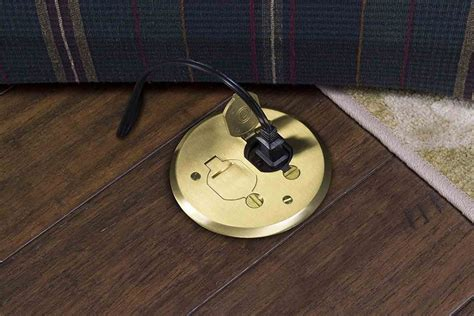 install  poke  electrical floor outlet