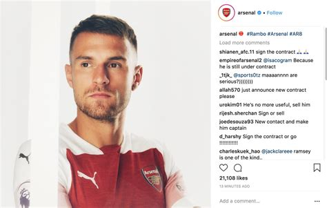 Arsenal Official @arsenal Instagram Profile | Toopics
