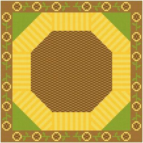 large sunflower cross stitch pattern quilts