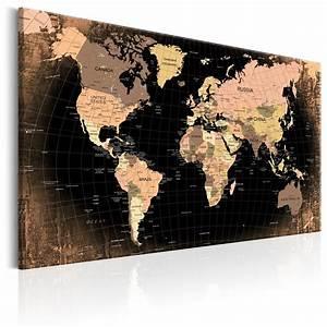 Pinnwand Weltkarte Kork : kork pinnwand weltkarte wandbilder landkarte leinwand bilder xxl k b 0011 p b ebay ~ Markanthonyermac.com Haus und Dekorationen