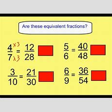 Finding Equivalent Fractions Youtube