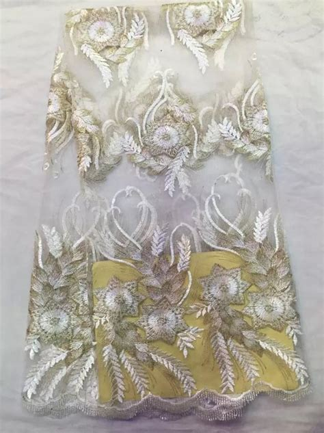 nigerian african lace fabrics french guipure tulle gold