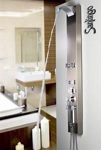 Duschpaneel Mit Massagedüsen : edelstahl duschpaneel duschs ule mit wasserfall massaged sen und regendusche von sanlingo ~ Eleganceandgraceweddings.com Haus und Dekorationen