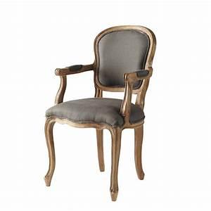 Fauteuil Suspendu Maison Du Monde : fauteuil cabriolet en lin taupe versailles maisons du monde ~ Premium-room.com Idées de Décoration