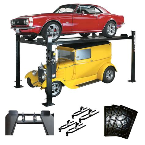 car lifts for home garage dannmar d 7 x kit 7 000 lb extended 4 post lift with 34967