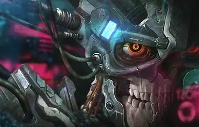 Cyborg Skull Wallpapers Recharge Lim Chin Yang