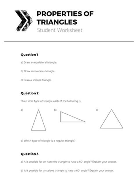 resource 5b properties of triangles student worksheet pdf