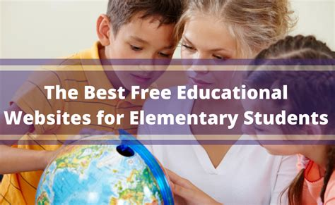 The Best Free Educational Websites For Elementary Students