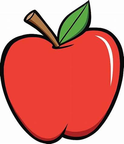 Apple Cartoon Clipart Clip Vector Illustrations Shiny