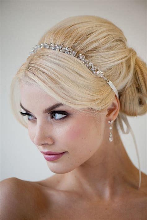 bouffant fancy formal hair simple sparkly headband dark