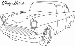 chevy bel air coloring printable page for kids With 1956 chevy bel air