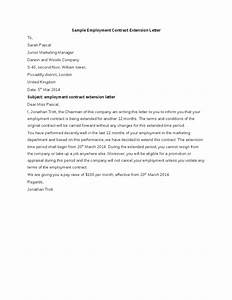 Sample Employment Contract Extension Letter  Hashdoc
