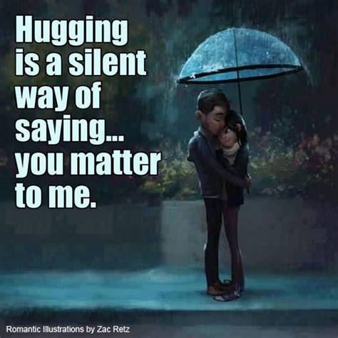hugging   silent     matter