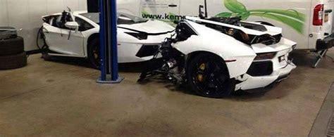 Lamborghini Aventador In Half Waiting Inside A