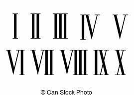 Chiffre Romain De 1 A 50 : cliparts et illustrations de chiffres romains 1 986 dessins et illustrations libres de droits ~ Melissatoandfro.com Idées de Décoration