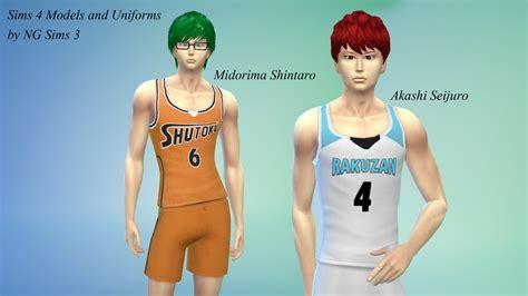 ng sims  akashi midorima sims  models uniforms