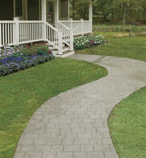 curved sidewalk creating a curved concrete walkway fine homebuilding