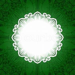 Green vintage floral banner Vector grass background with