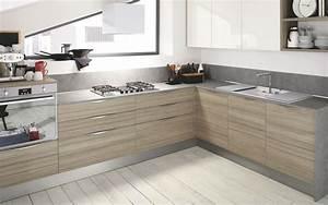 cuisine moderne bois clair le bois chez vous With cuisine moderne bois clair