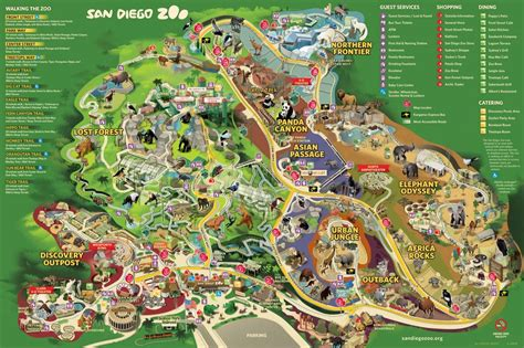 zoo map diego san