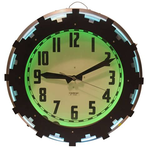 lighted clocks for sale 1930s neon aztec clock for sale at 1stdibs