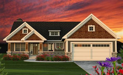 bed craftsman ranch home plan ah architectural designs house plans