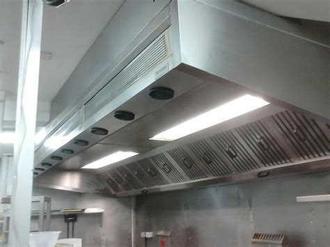 kitchen canopy lights secondhand catering equipment canopies and extractor systems 3314