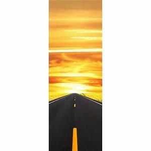 Papier Peint Sticker : papier peint porte d co sur la route stickers autocollants ~ Premium-room.com Idées de Décoration