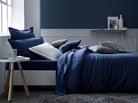 linge de chambre linge de lit bleu marine atlub com