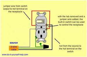 Wiring Diagram For A Switch  Outlet Combo To Control Itself