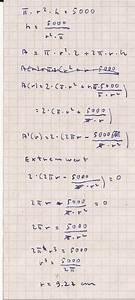 Differenzial Rechnung : blech differenzialrechnung extremalwertaufgabe ~ Themetempest.com Abrechnung